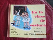 EN LA CLASE DE COSTURA 1st 1956 Para Apprender Jugando AWESOME illustrations