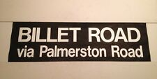 "London Bus Blind (36"") Billet Road Via Palmerston Road E17 east end"