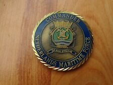 CLASSIC NETHERLANDS MARITIME FORCE COMMANDER ROYAL NAVY CHALLENGE COIN