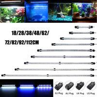 20-130CM Blue White Waterproof Aquarium LED Fish Tank Light Bar Submersible