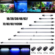 20-130CM Blue White Waterproof Aquarium LE Fish Tank Light Bar Submersible