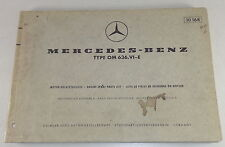 Teilekatalog Mercedes Benz Diesel Motor OM 636 VI-E Stand 05/1969