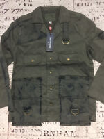New True Religion Women's Mixed Military Jacket 200139 $249 Size: S M L