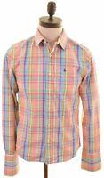 JACK WILLS Mens Shirt Small Multicoloured Check Cotton  KQ04