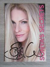 Sonya Kraus original handsignierte Autogrammkarte ! TT2