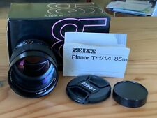 Contax Zeiss 85mm F1.4 AEG Mint With Box