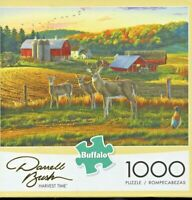PUZZLE, HARVEST TIME, BUFFALO, 1000 PIECES, DARRELL BUSH, UNOPENED