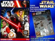 Topps STAR WARS FORCE AWAKENS Sticker Album EMPTY NEW+ LEGO Complete Full Panini