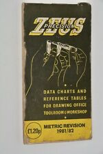 zeus precision data charts and reference tables 1981/82