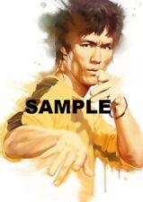 """Set Of 3 Bruce Lee Art 7"""" x 5""""  Photo Prints"""