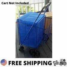 Folding Shopping Cart Liner Rolling Trolley Grocery Basket Waterproof Blue New