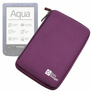 "Purple 7"" Hard EVA Case for PocketBook Touch / Touch Lux / Aqua / Ultra / Sense"