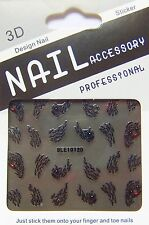Nailart Nagel Sticker Tattoo Tiger Katze, Animal Print, Tier Fell BLE1012D