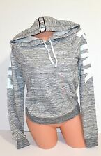 Victorias Secret PINK Logo Perfect Hoodie Pullover Sweatshirt Medium Gray Marl
