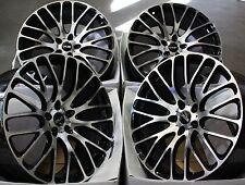 """19"""" schwarze bearbeitet Face 170 Alufelgen passen Audi A3 A4 A6 A8 Q3 Q5 TT 06 > 5X112"""
