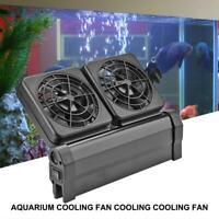 DC12V Aquarium Cooling Fan Quiet Temperature Control Fish Tank Water Cooler