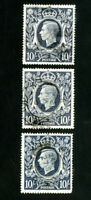 Great Britain Stamps # 251 VF Lot of 3 Used Scott Value $67.50