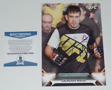DEMIAN MAIA SIGNED AUTO'D UFC 2016 TOPPS KNOCKOUT 5X7 CARD #/49 BAS COA 211 77