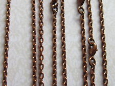 "4x 21"" Antique Copper  Chain Necklaces with lobster clasp jewellery making"