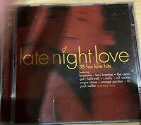 Late Night Love CD 38 Hot Love Hits Rock Pop Compilation Album