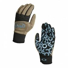 NWT OAKLEY Factory Park GLOVES Rye Tan Blue SNOW BOARD SKI PLAY 94281-30w Mens L