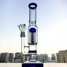 Glass Water Smoking Pipe 12in Height Percolator Pipes Honeycomb Disk Bong A8C3