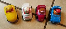 Lot of 4 Fisher Price Little People Wheelies Cars
