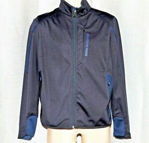 BMW Motorrad Motorcycle full zip Softshell light riding Jacket, Blue Men's L EUC
