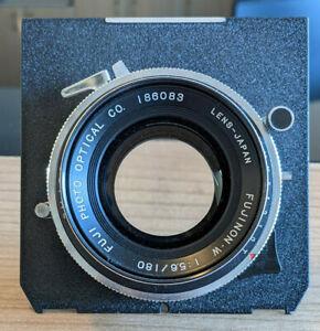 "Fujinon Fuji W 180 f5.6 lens 4x5"" 5x7"" 8x10"" (inside lettering) Copal 1"