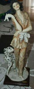 GIUSEPPE ARMANI LTD EDITION 2469 / 5000 FIGURINE STATUE MARINA W/DALMATION DOG