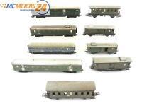 E57 Märklin H0 346/3J 346/1 346/4 10x Personenwagen Schlafwagen Gepäckwagen