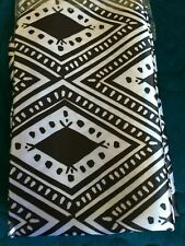 Brand New Silky Satin Pillowcase White and Black Aztec print design