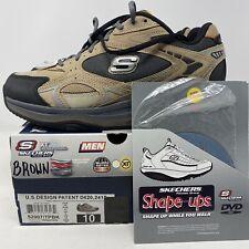 Skechers SHAPE UPS UOMO 10 XT copia trasformata Taupe BLACK Fitness Tonificanti Scarpa 52007