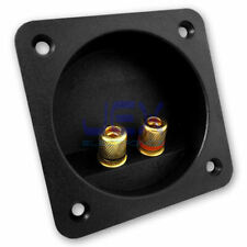 Round Recessed Speaker Metal Binding Post Terminal Connector Plate for SubWoofer