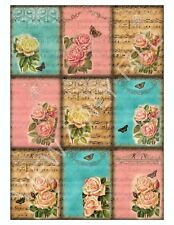 9 Roses on Vintage Sheet Music Hang Tags Scrapbooking Paper Crafts (63)