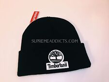 SUPREME TIMBERLAND BEANIE BLACK BOX LOGO [FW 2016] HAT CAP TROOPER CAMO CDG DSWT