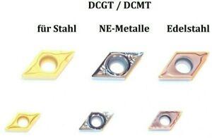 Wendeschneidplatten  DCGT / DCMT..0702..11T3..für Stahl, Edelstahl & NE-Metalle