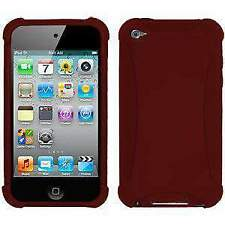 AMZER Maroon Red Silicone Soft Skin Jelly Case Cover for iPod Touch 4th Gen
