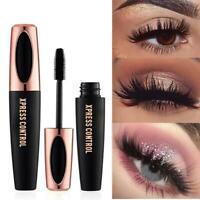 4D Silk Fiber Eyelash Mascara Extension Make-up Black Waterproof Eye Lashes Long