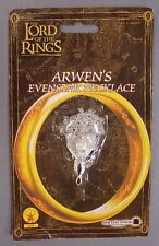Rubies Costume Co Lord of the Rings Arwen's Evenstar Necklace Cb8 Silvertone Nip