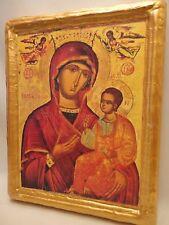 Virgin Mary Eleousa Byzantine Greek Orthodox Church Icon Art Portrait