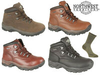 Northwest Territory Mens INUVIK Waterproof Hiking Walking Boots 4 Colours 6-15