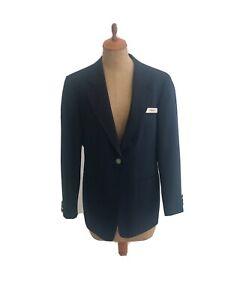 Vintage '60s American Airlines Flight Attendant Navy Blue Blazer Jacket Size 6R