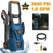 3000PSI 1.8GPM Electric Pressure Washer High Power Cold Water Cleaner Machine!