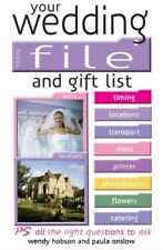 New, Your Wedding File and Gift List: The Ideal Book to Help Streamline Your Wed