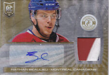 13-14 Totally Certified Nathan Beaulieu /10 Auto Patch Rookie Canadiens 2013