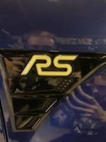 Ford Focus RS MK2 3D Gel-Embleme Inlays Front Heck Sidewings