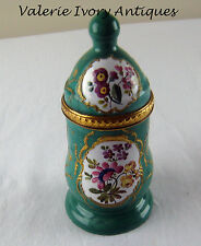 C 1780 Battersea Bilston English Enamel Mustard Condiment Pot