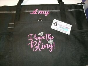 I have the Bling Paparazzi Personalized Tote Bag  Jewelry Bag Paparazzi Tote Bag