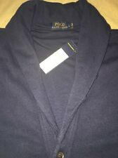 Men's Polo Ralph Lauren Extra Large Navy Blue Cardigan Sweater Nwt